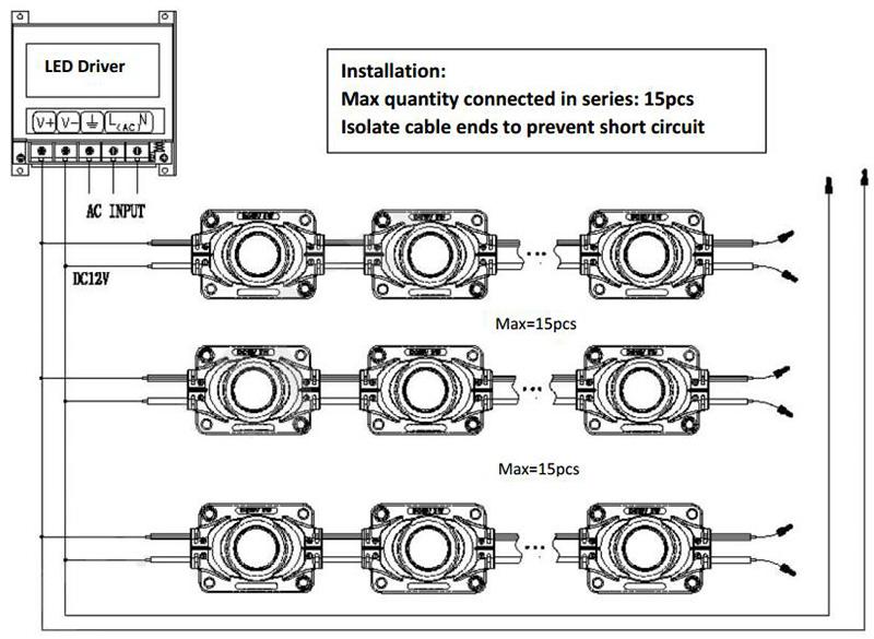 3W high power edgelit LED module connection ritop lighting