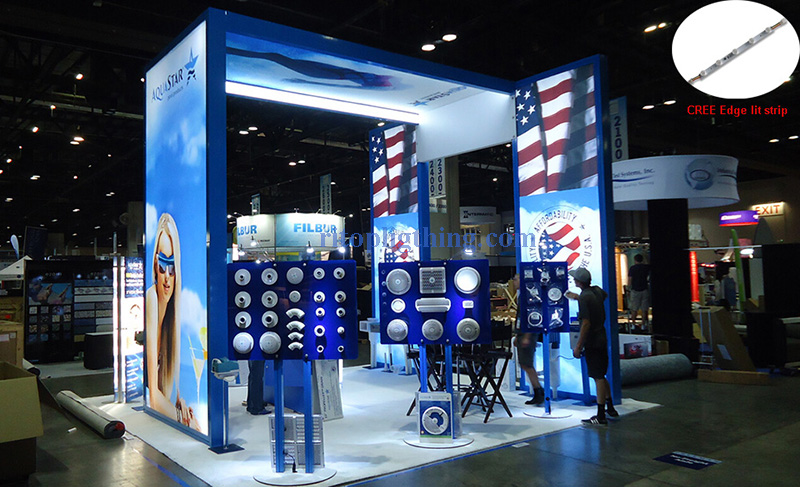CREE Osram high power edgelit LED stripe for exhibition stand application ritop lighting