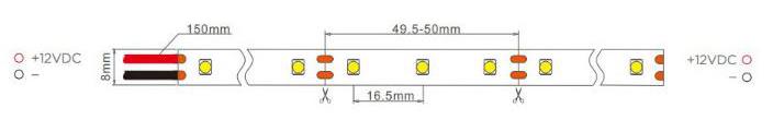 60led dc12v cuttable every 3 leds