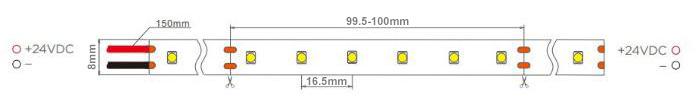 60led dc24v cuttable every 6 leds