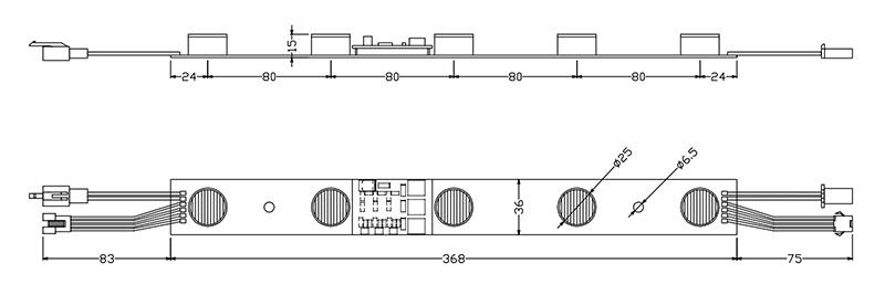 15W high power RGB edge-lit LED modules dimension-ritop lighting