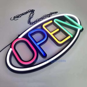 oval led shop open neon sign board 1-ritop lighting