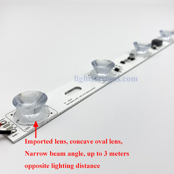 3 meters long light distance imported oval lens