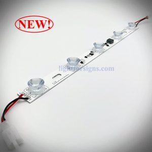 3 meters long light distance sidelit edge lit LED modules imported oval lens