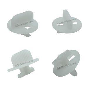 PMMA plastic twist lock for edge lit led modules light box aluminium profile 1