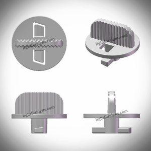 PMMA plastic twist lock for edge lit led modules light box aluminium profile